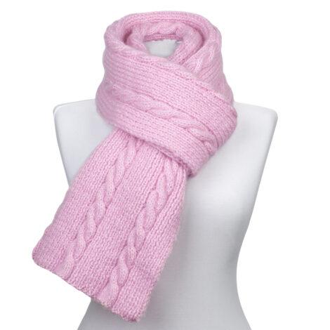 Митенки, шарф, шапка (цвет розовый)