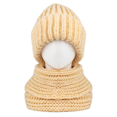Снуд, шапка (цвет слоновая кость)