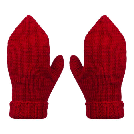 Снуд, варежки (цвет красный)