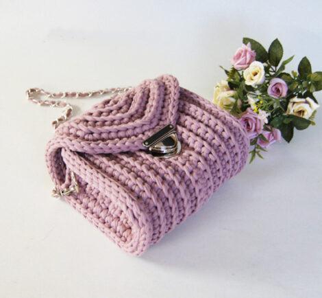 Сумочка кросс - боди (Пыльная роза)