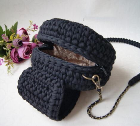 Сумочка кросс - боди круглая (Чёрный)
