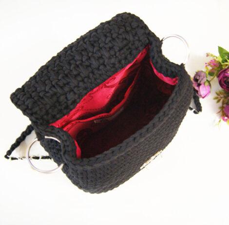 Вязаный рюкзак - трансформер (Чёрный)