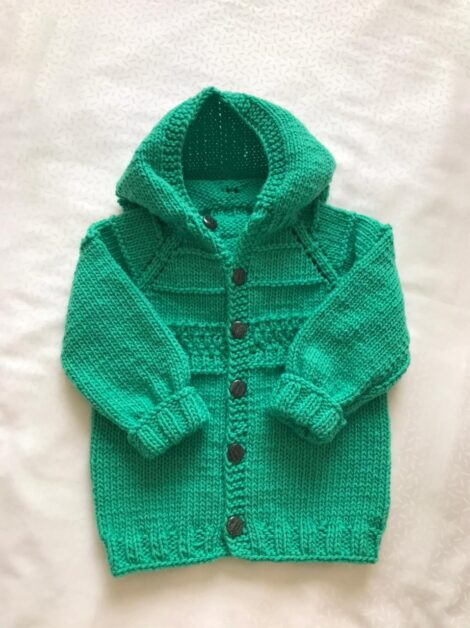 Кофта с капюшоном (цвет зеленый изумруд)