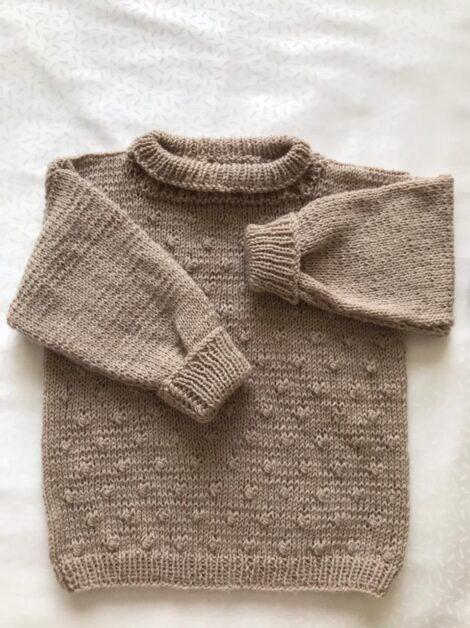 Комплект Бежевый - шапка, свитер