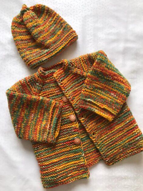 Комплект Меланж - пальто, шапка