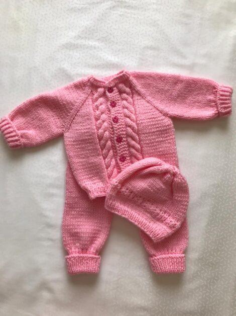 Кофта, штанишки, шапка (цвет розовый)