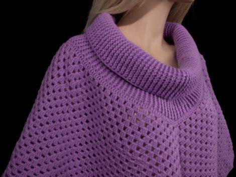 Пончо (цвет фиолетовый)