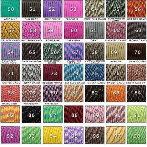 Цвет № 50 - длина шнура 30 метров (Паракорд 550 в ассортименте - 147 цветов)