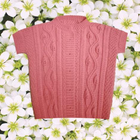 Кофта для девочки ярко-розовая
